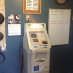ATM machine inside the Minnow Bucket, Huntley, Montana